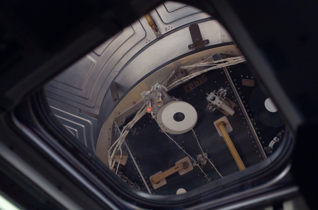 S121E05628 - STS-121 - View of PMA 2 as the orbiter docks with the ISS during STS-121