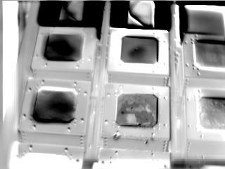 s121E8443 - STS-121 - Infrared view of the RCC Test Article taken for DTO 851 during STS-121 / Expedition 13 joint operations