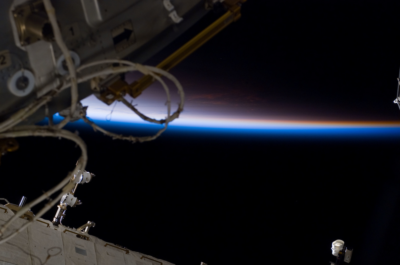 S122E007672 - STS-122 - Node 2 during Expedition 16/STS-122 Joint Operations
