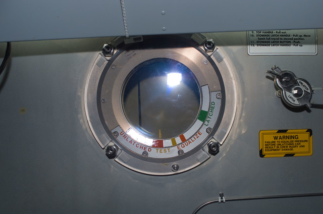 S122E008055 - STS-122 - Node 2 Hatch during Expedition 16/STS-122 Joint Operations