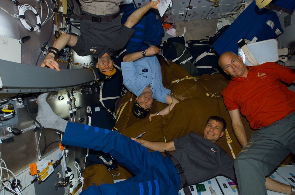 S122E008585 - STS-122 - Walheim, Frick, Love and Poindexter on MDDK