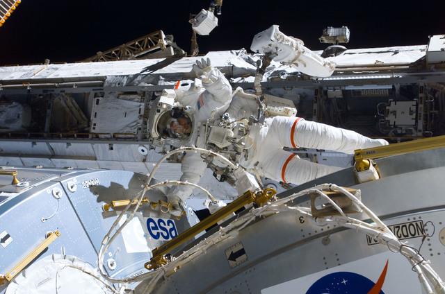 S122E008914 - STS-122 - Walheim during EVA 3