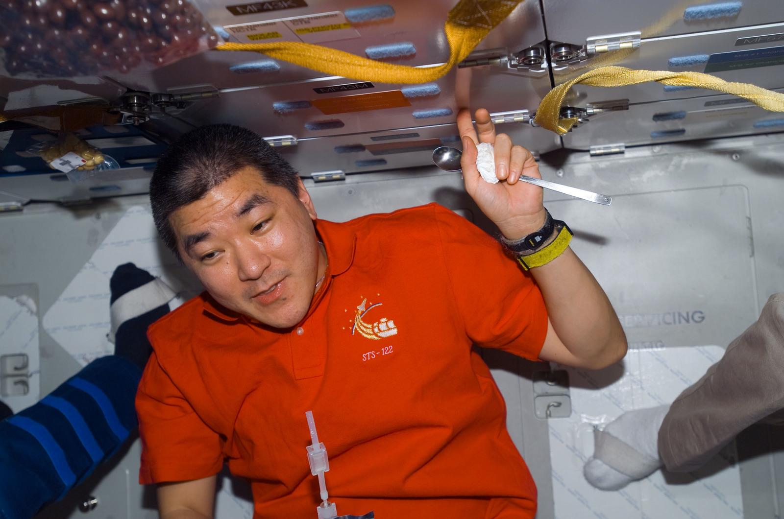 S122E009522 - STS-122 - Tani on Atlantis MDDK