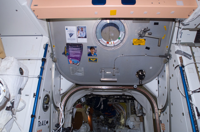 S122E009526 - STS-122 - Node 1 Hatch during Expedition 16/STS-122 Joint Operations