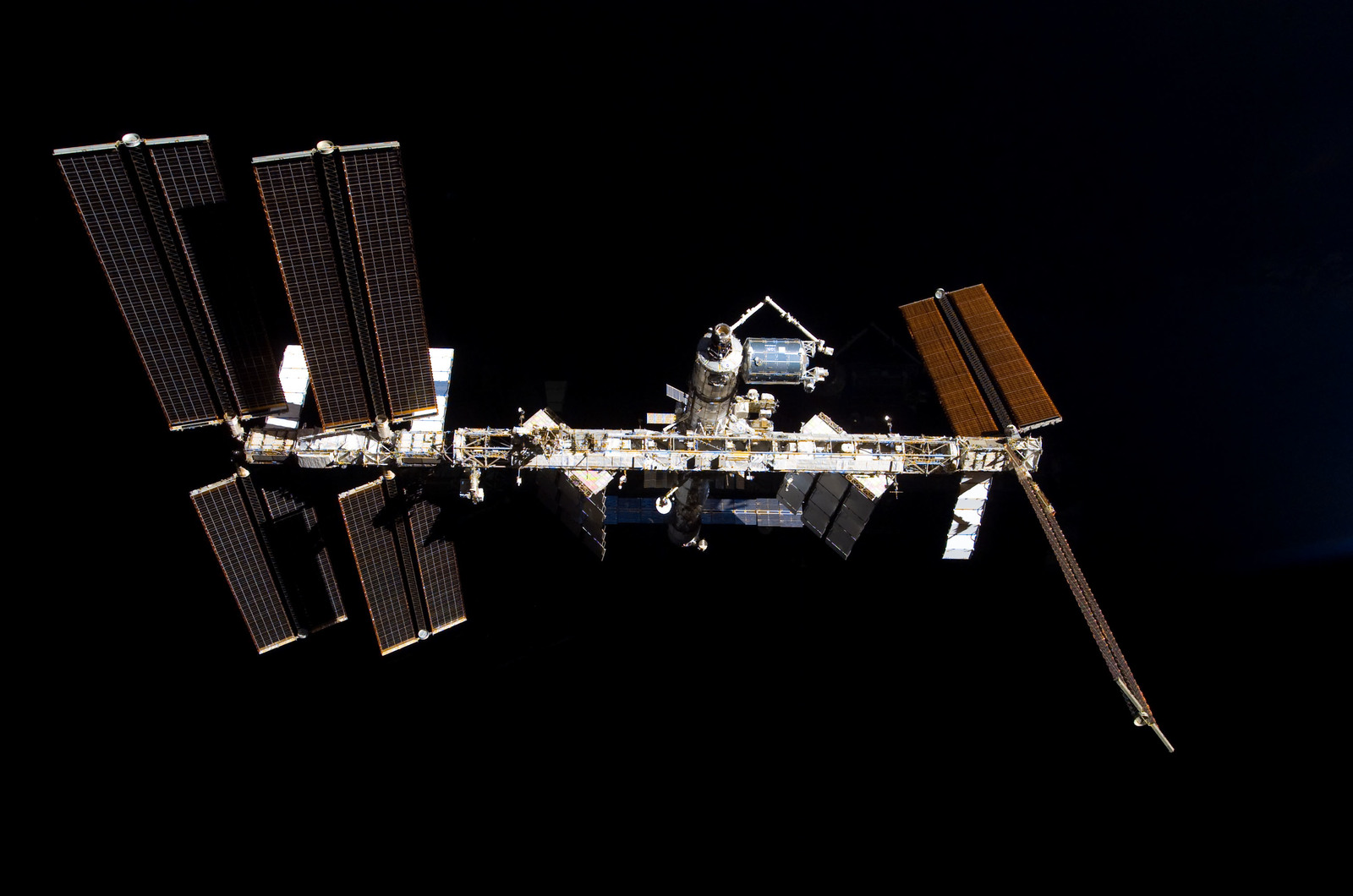 S122E009855 - STS-122 - View of ISS after STS-122 Undocking