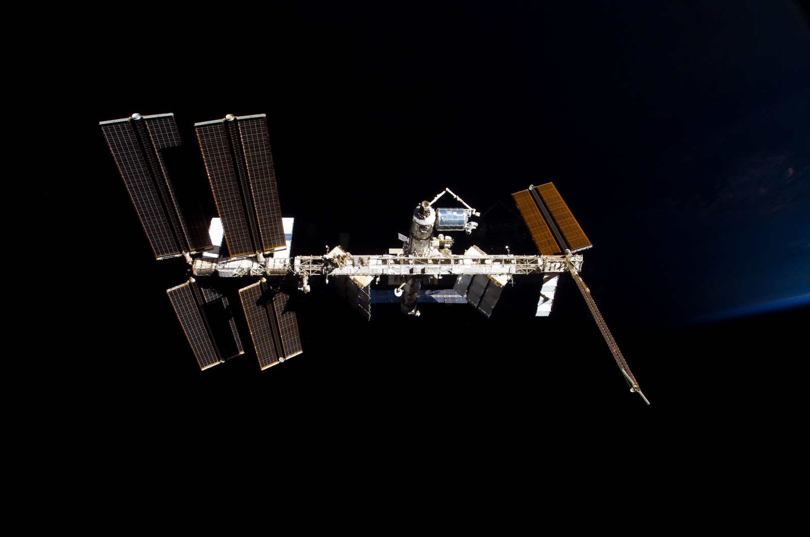 S122E009858 - STS-122 - View of ISS after STS-122 Undocking