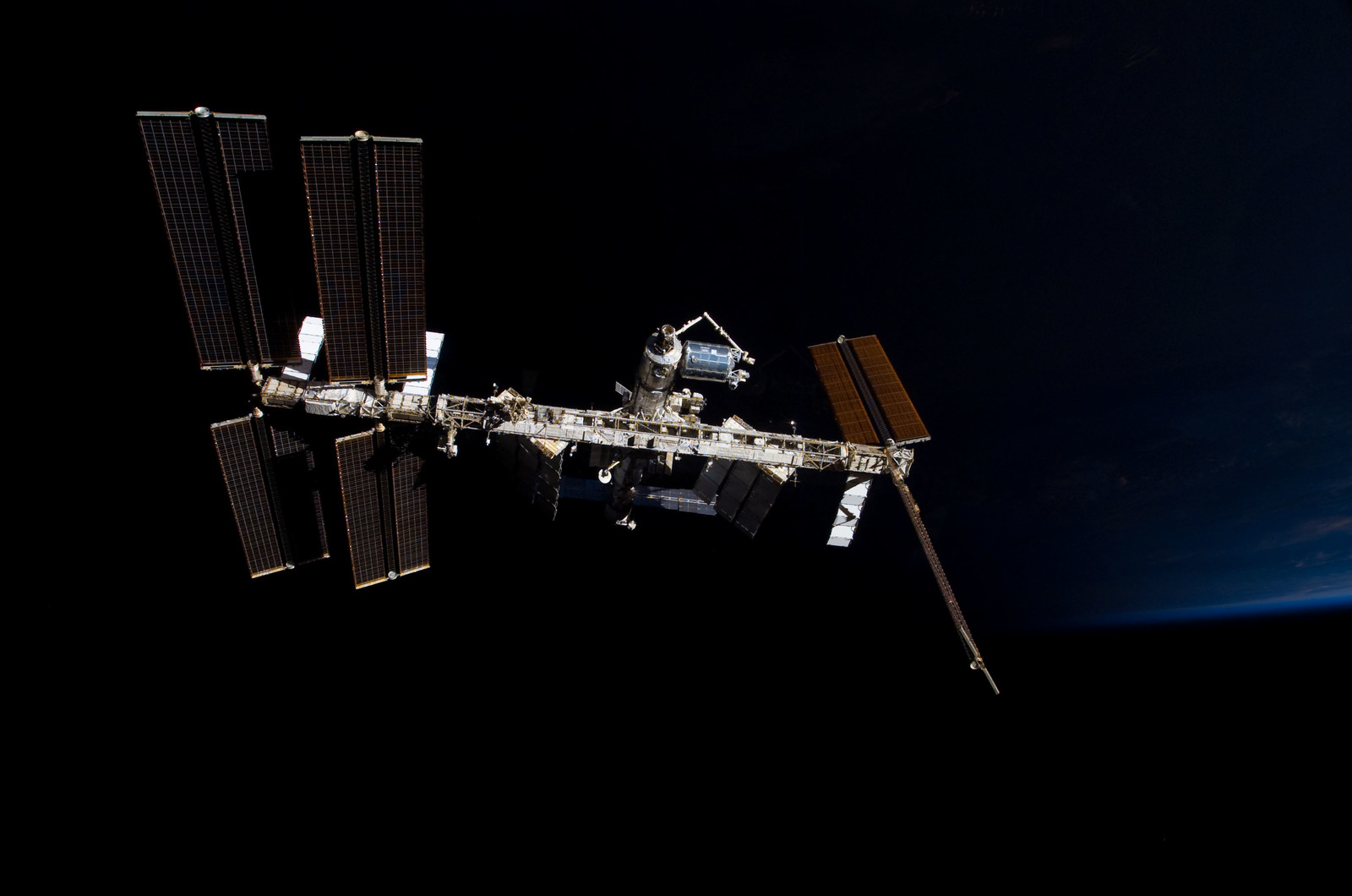 S122E009863 - STS-122 - View of ISS after STS-122 Undocking