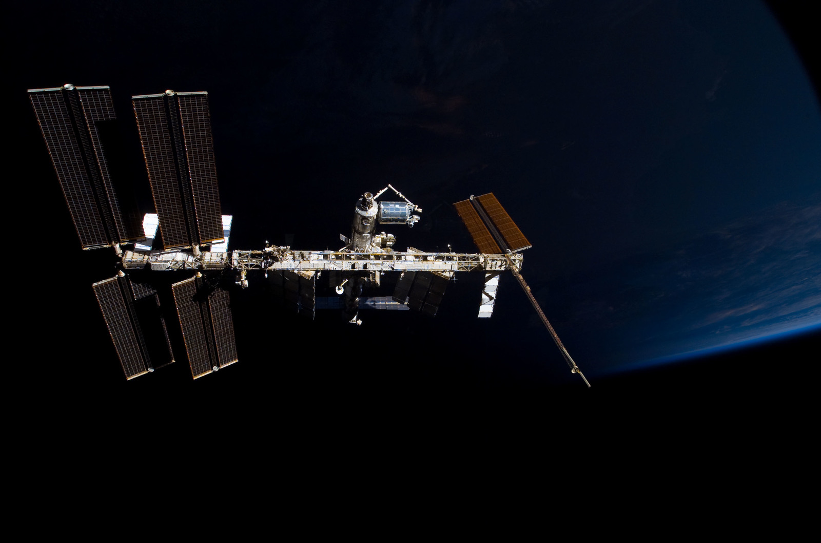 S122E009865 - STS-122 - View of ISS after STS-122 Undocking
