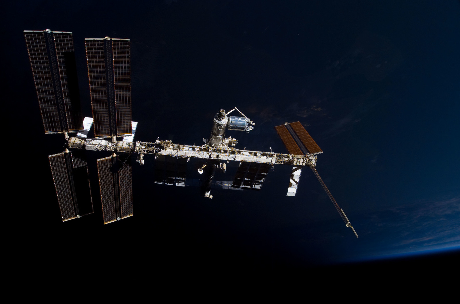 S122E009871 - STS-122 - View of ISS after STS-122 Undocking