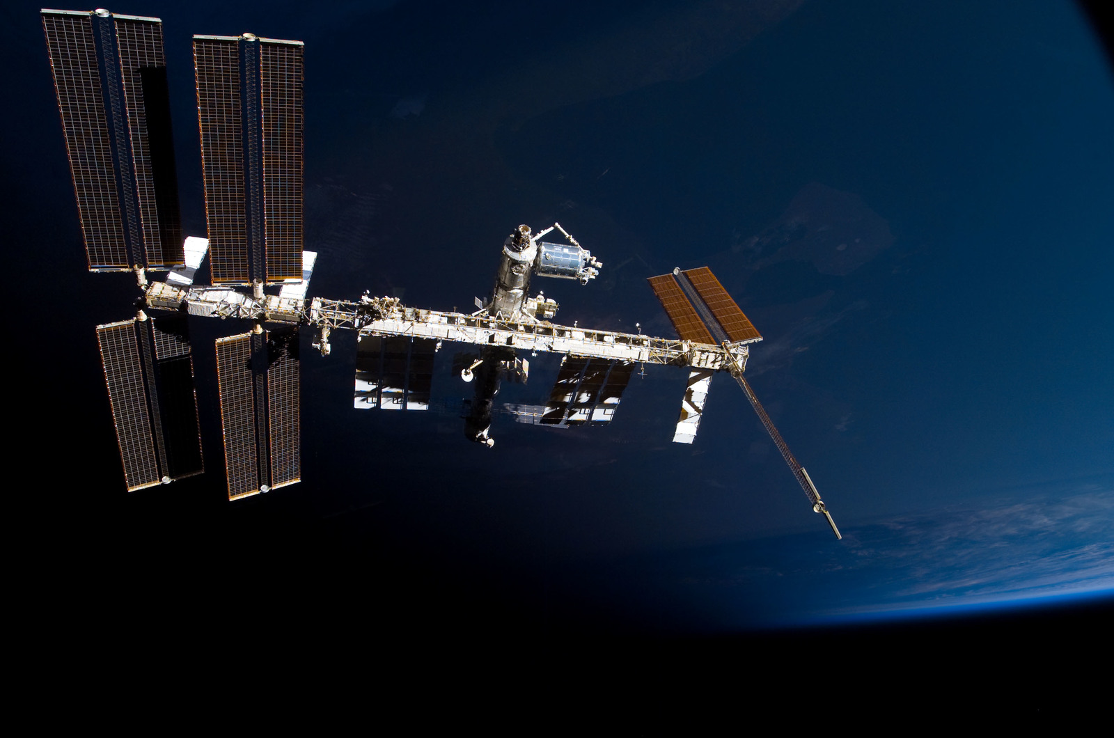 S122E009875 - STS-122 - View of ISS after STS-122 Undocking