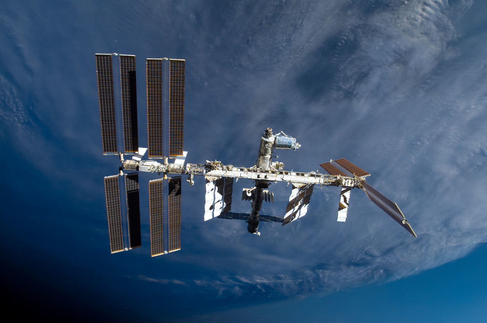 S122E009878 - STS-122 - View of ISS after STS-122 Undocking
