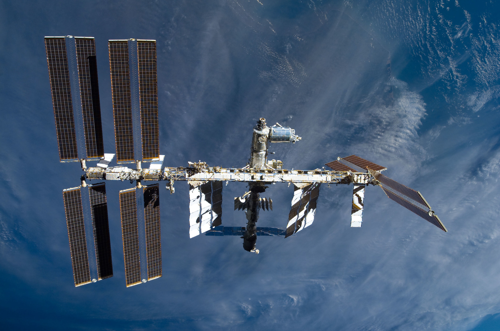 S122E009887 - STS-122 - View of ISS after STS-122 Undocking