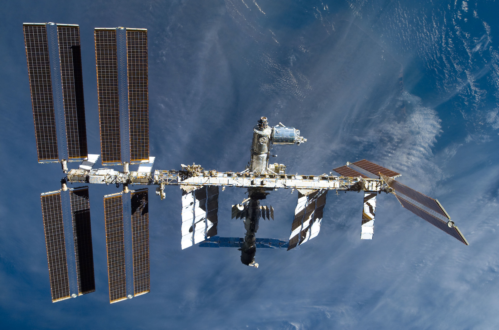 S122E009888 - STS-122 - View of ISS after STS-122 Undocking
