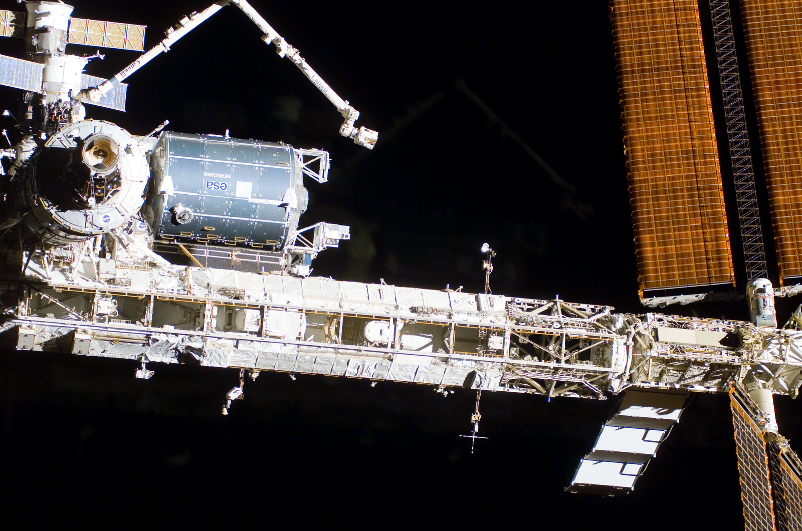 S122E009935 - STS-122 - Flyaround view of ISS after STS-122 Undocking