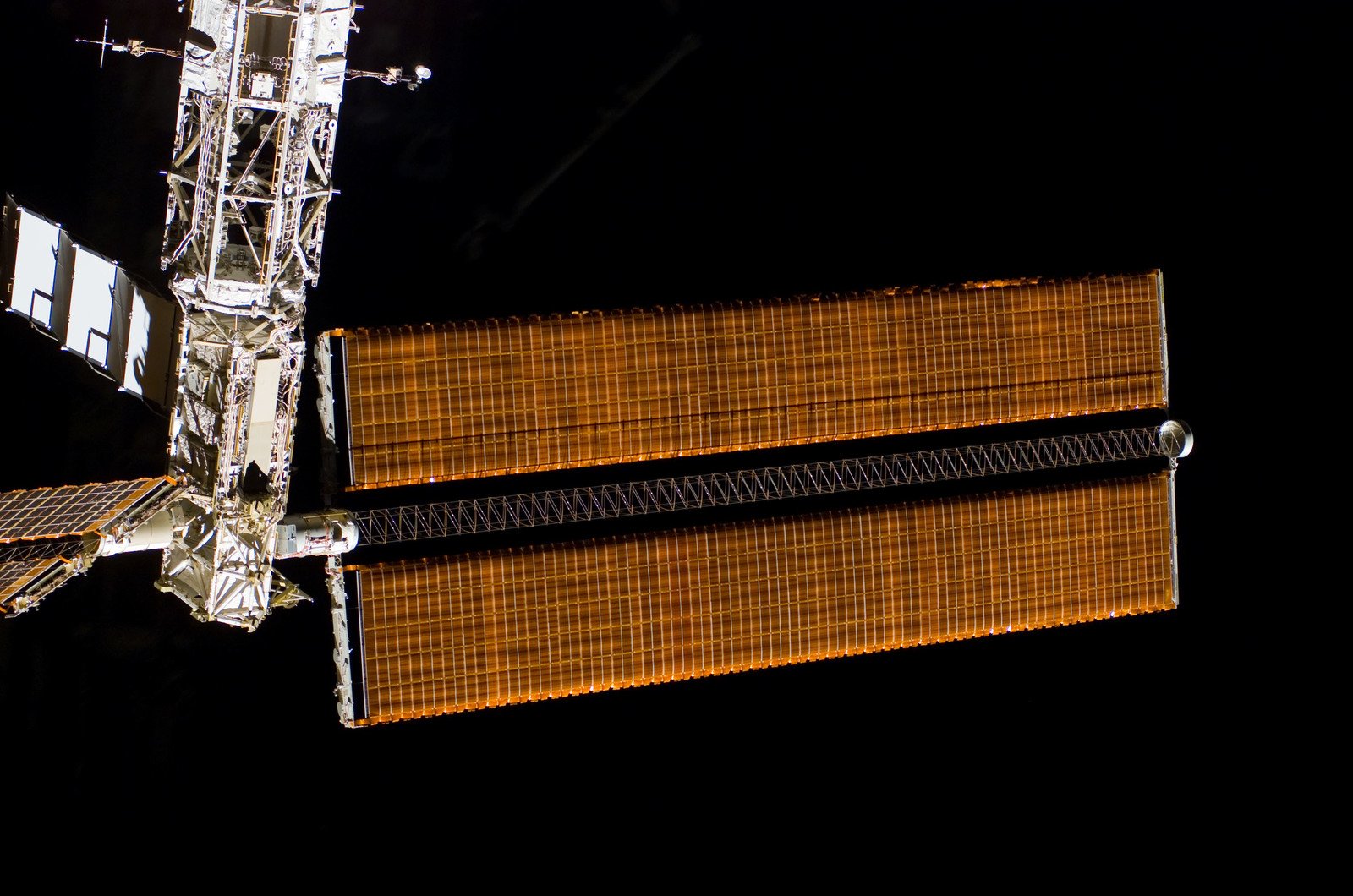 S122E009937 - STS-122 - Flyaround view of ISS after STS-122 Undocking