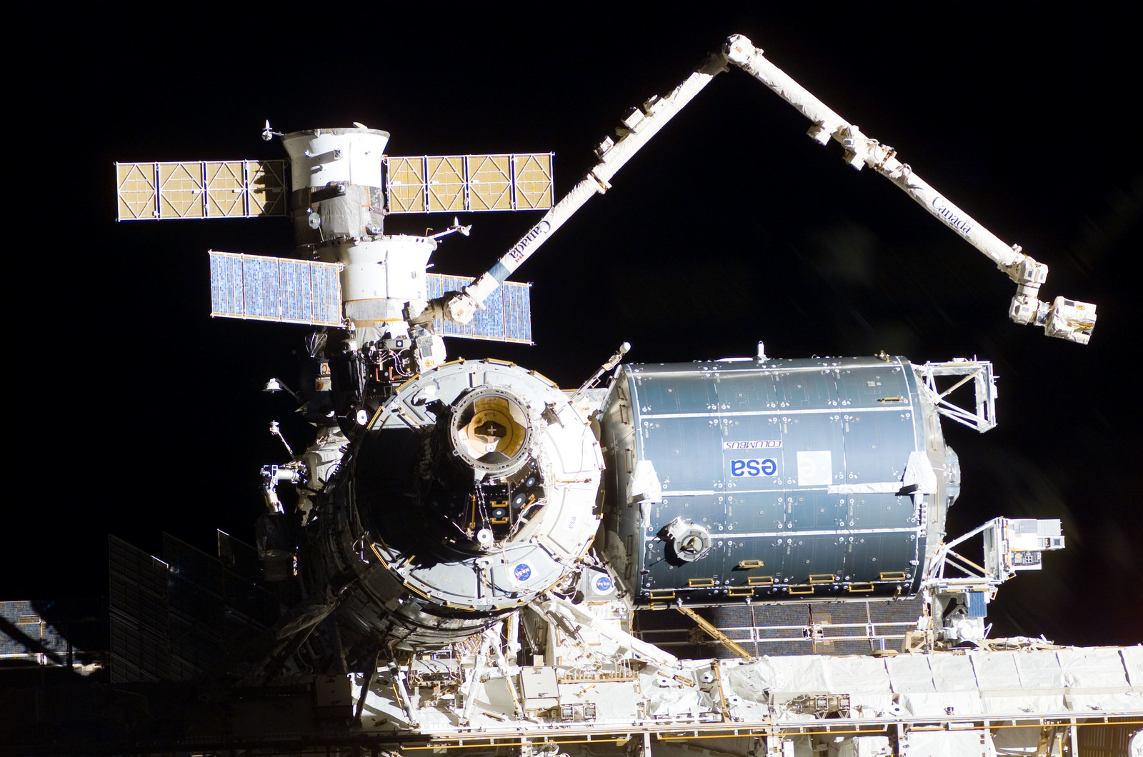S122E009940 - STS-122 - Flyaround view of ISS after STS-122 Undocking