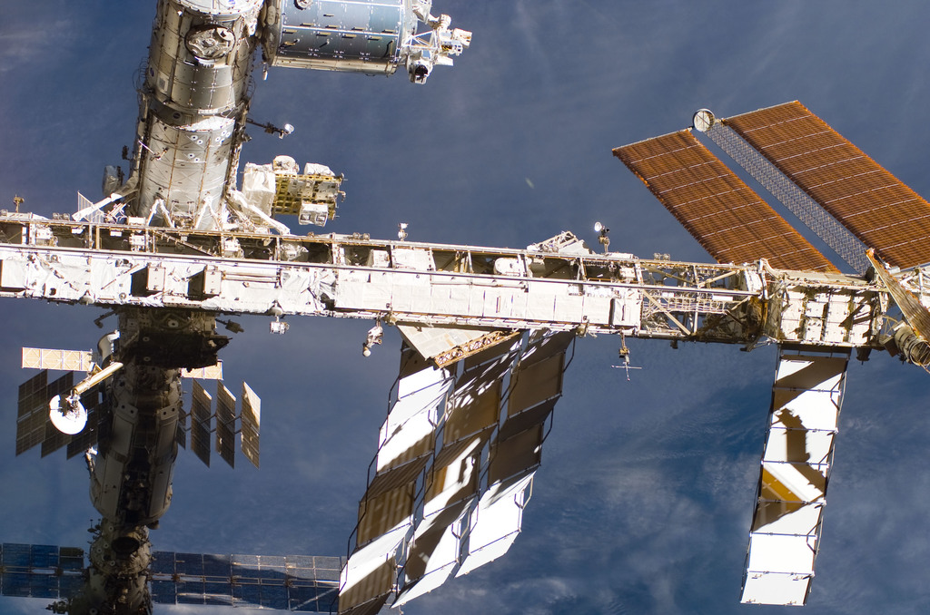 S122E009968 - STS-122 - Flyaround view of ISS after STS-122 Undocking