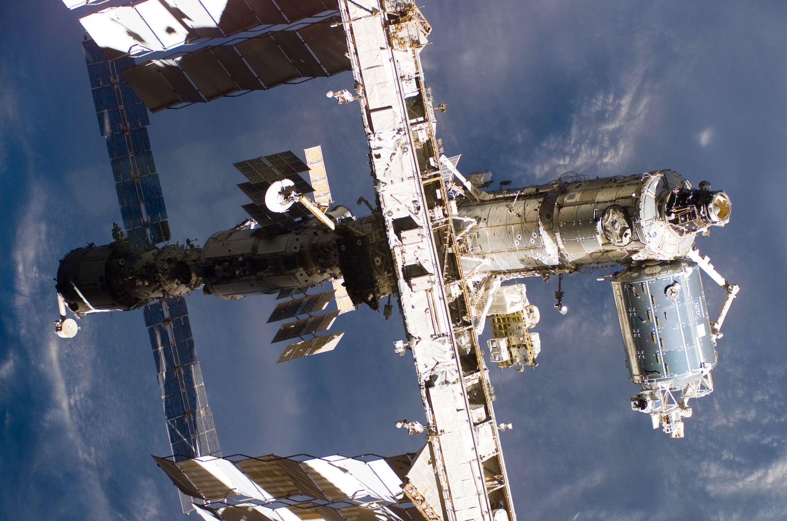 S122E009970 - STS-122 - Flyaround view of ISS after STS-122 Undocking
