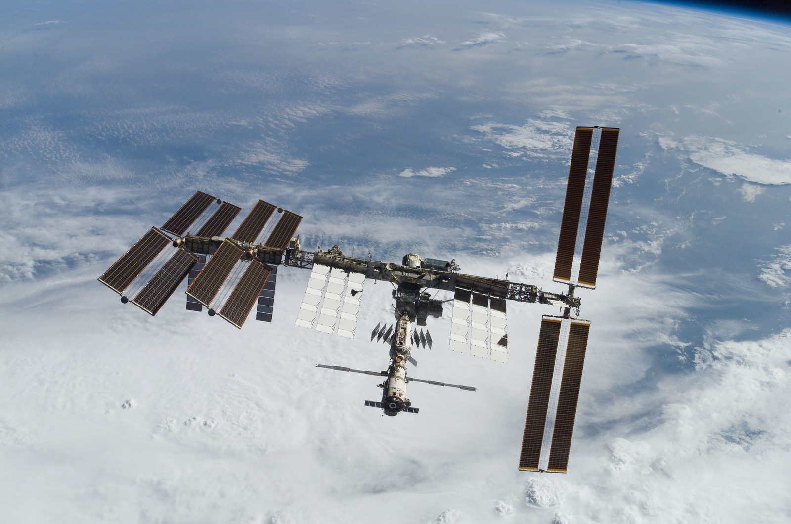 S122E010937 - STS-122 - View of ISS after STS-122 Undocking