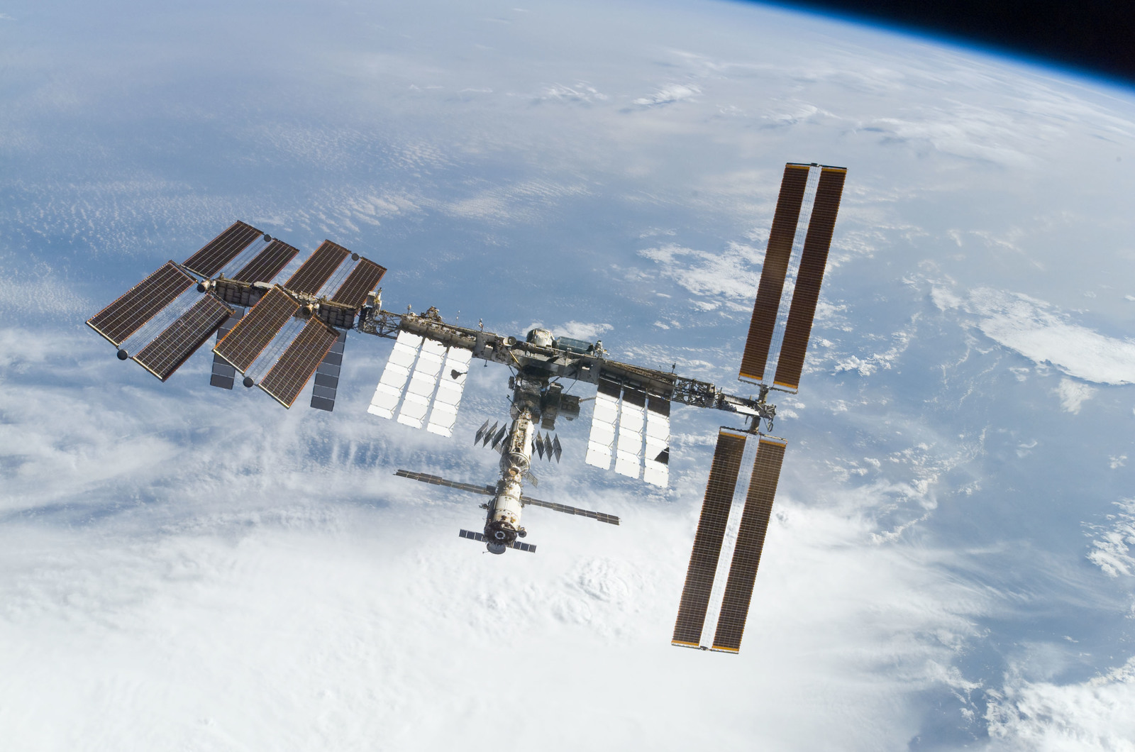 S122E010938 - STS-122 - View of ISS after STS-122 Undocking