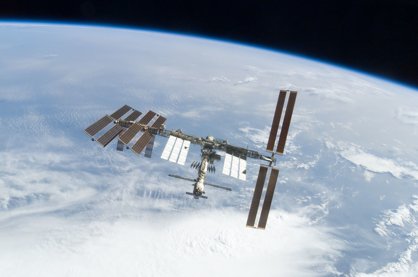 S122E010940 - STS-122 - View of ISS after STS-122 Undocking