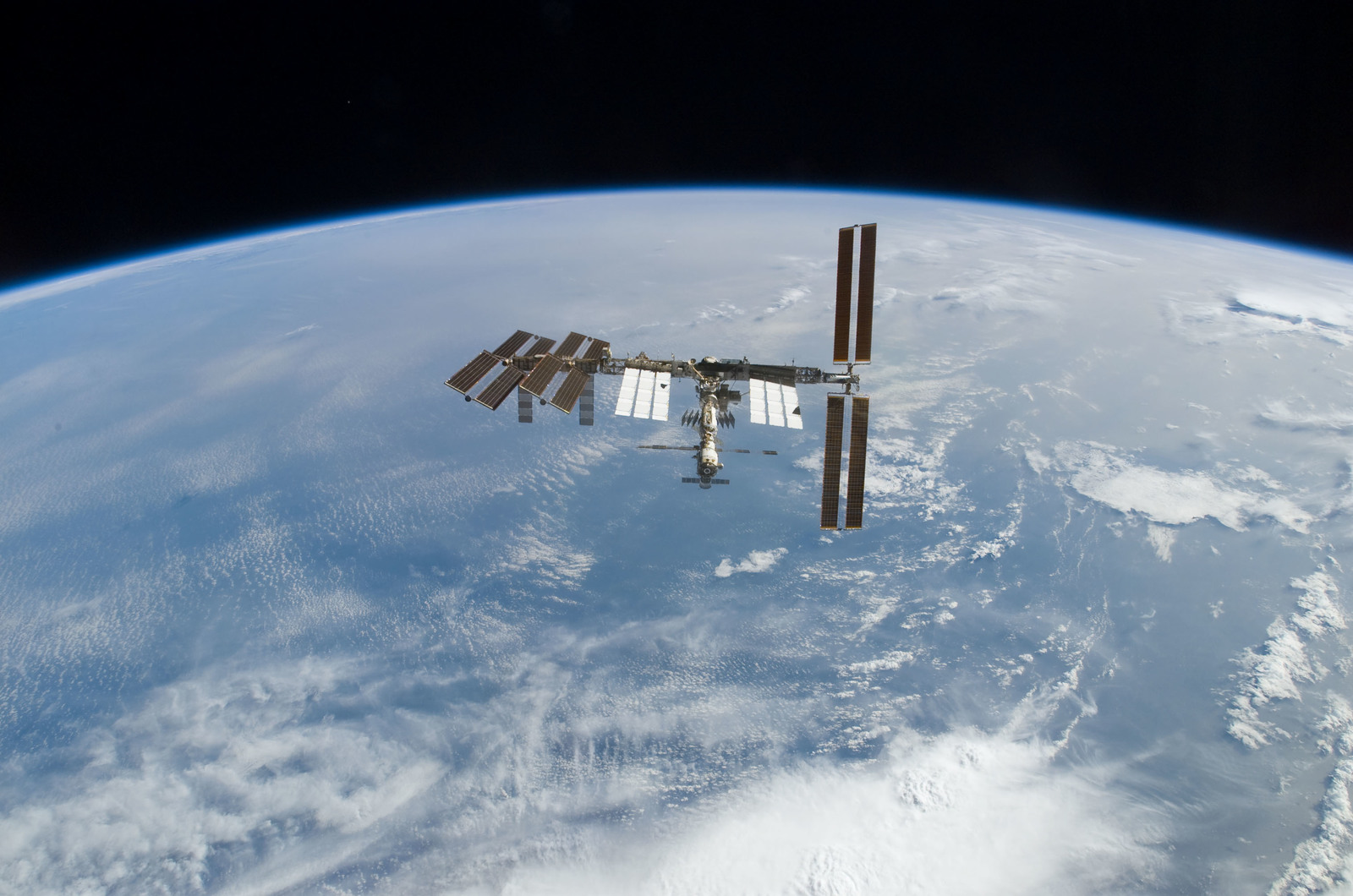 S122E010947 - STS-122 - View of ISS after STS-122 Undocking