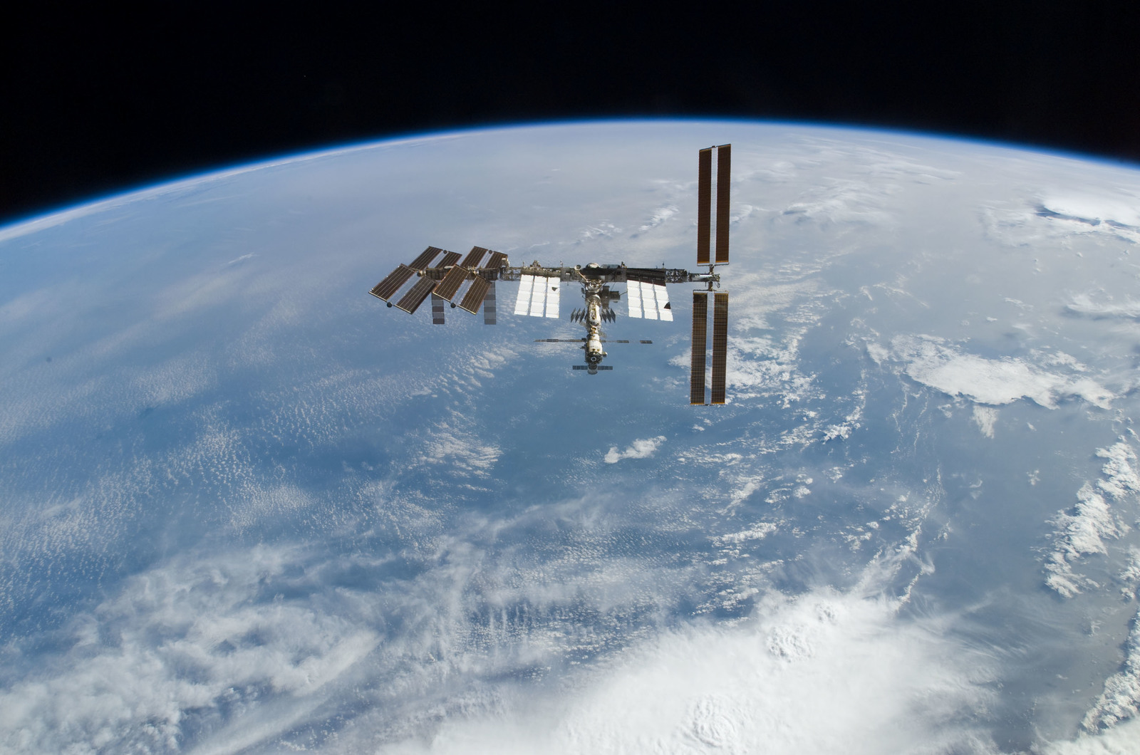 S122E010948 - STS-122 - View of ISS after STS-122 Undocking