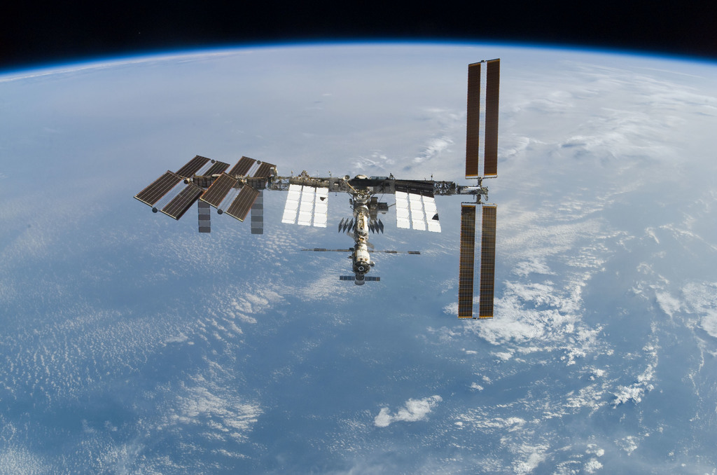 S122E010951 - STS-122 - View of ISS after STS-122 Undocking