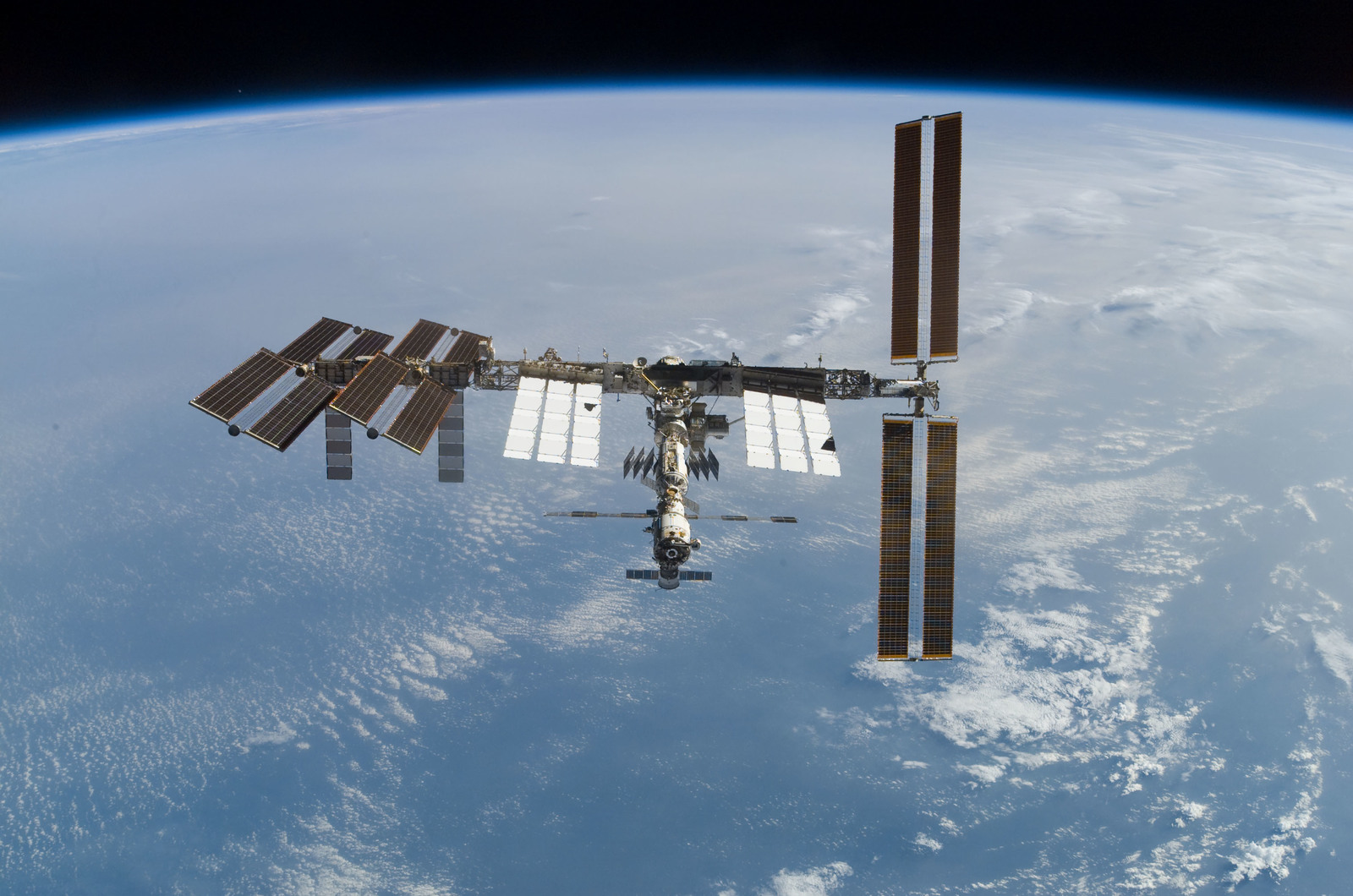 S122E010952 - STS-122 - View of ISS after STS-122 Undocking