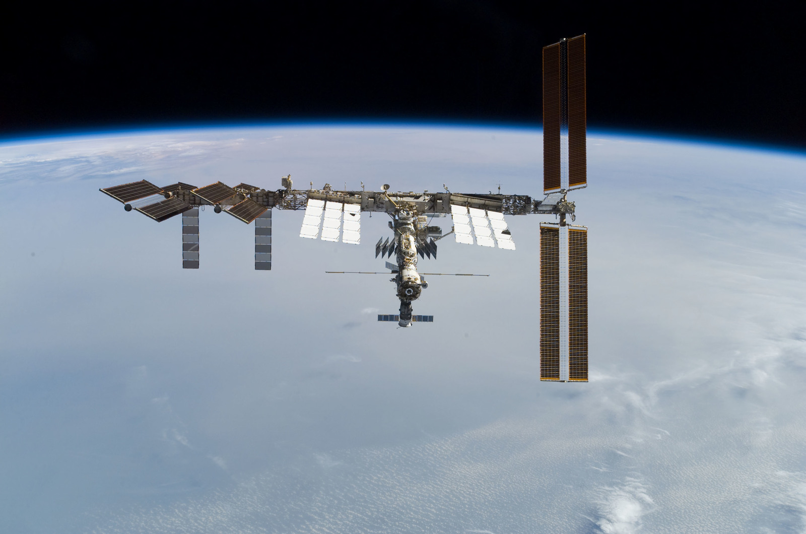 S122E010957 - STS-122 - View of ISS after STS-122 Undocking
