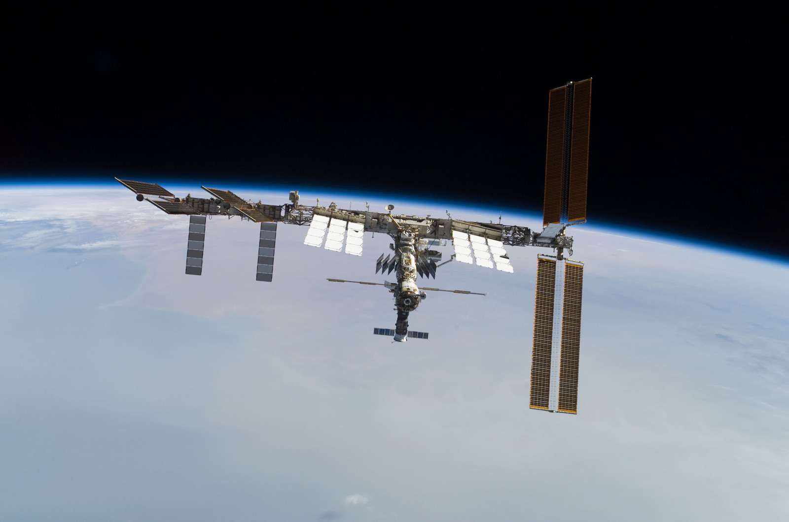 S122E010965 - STS-122 - View of ISS after STS-122 Undocking