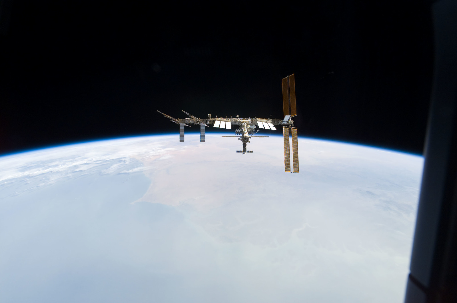 S122E010969 - STS-122 - View of ISS after STS-122 Undocking