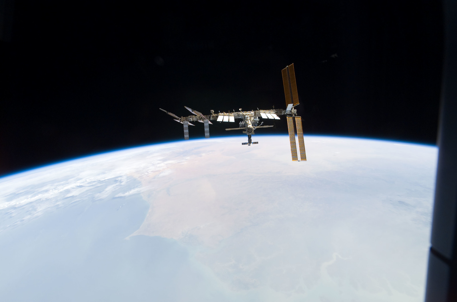 S122E010971 - STS-122 - View of ISS after STS-122 Undocking