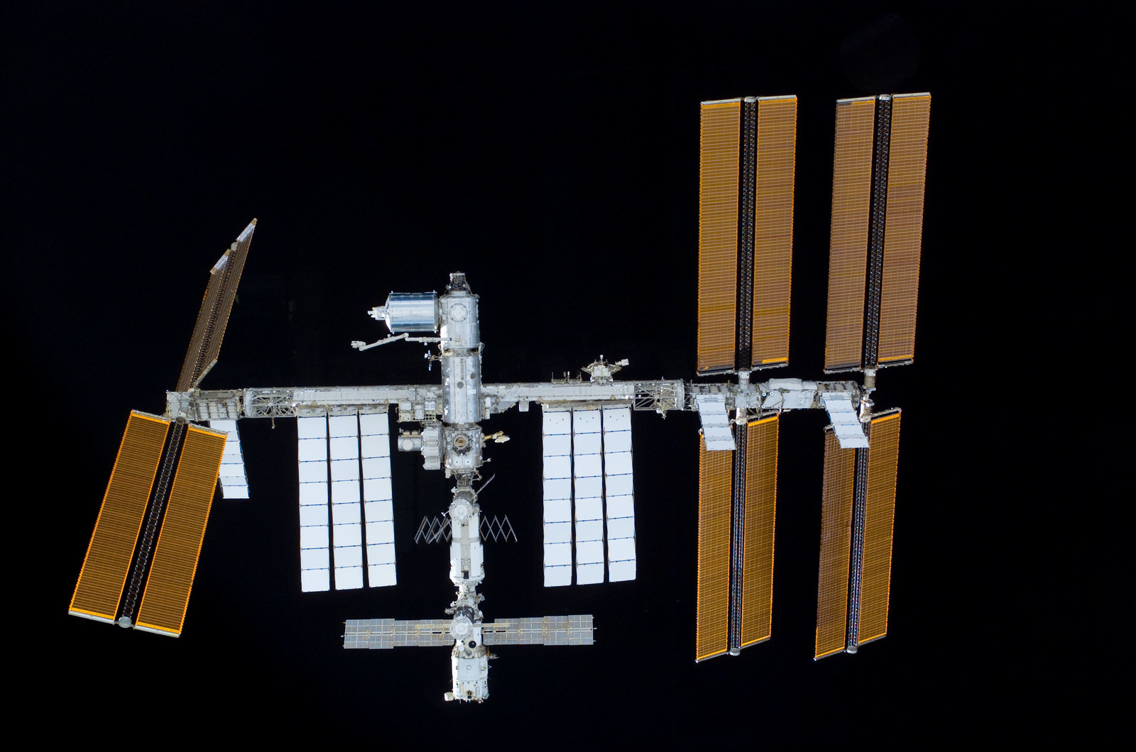 S122E011025 - STS-122 - View of ISS after STS-122 Undocking