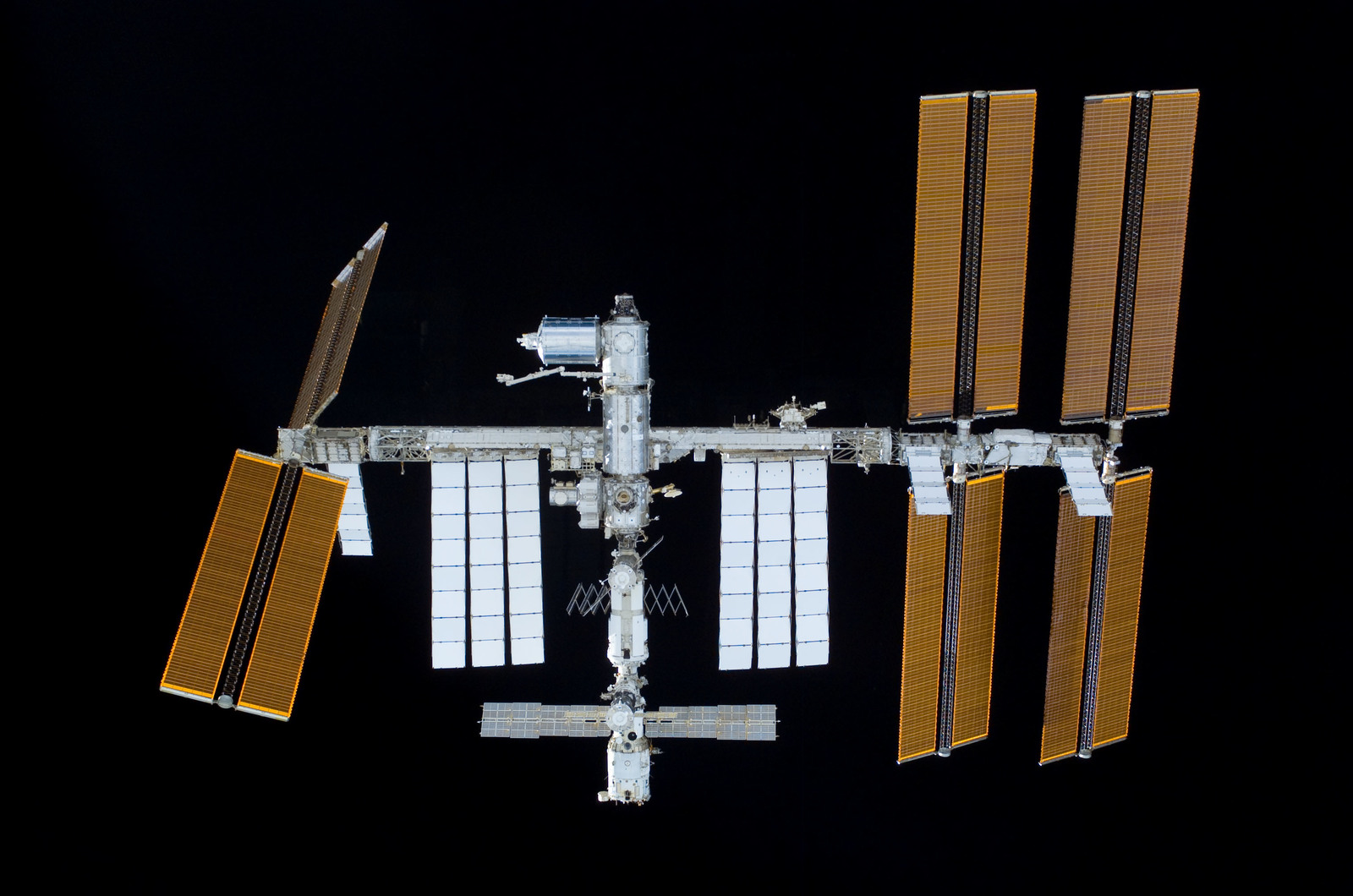 S122E011026 - STS-122 - View of ISS after STS-122 Undocking