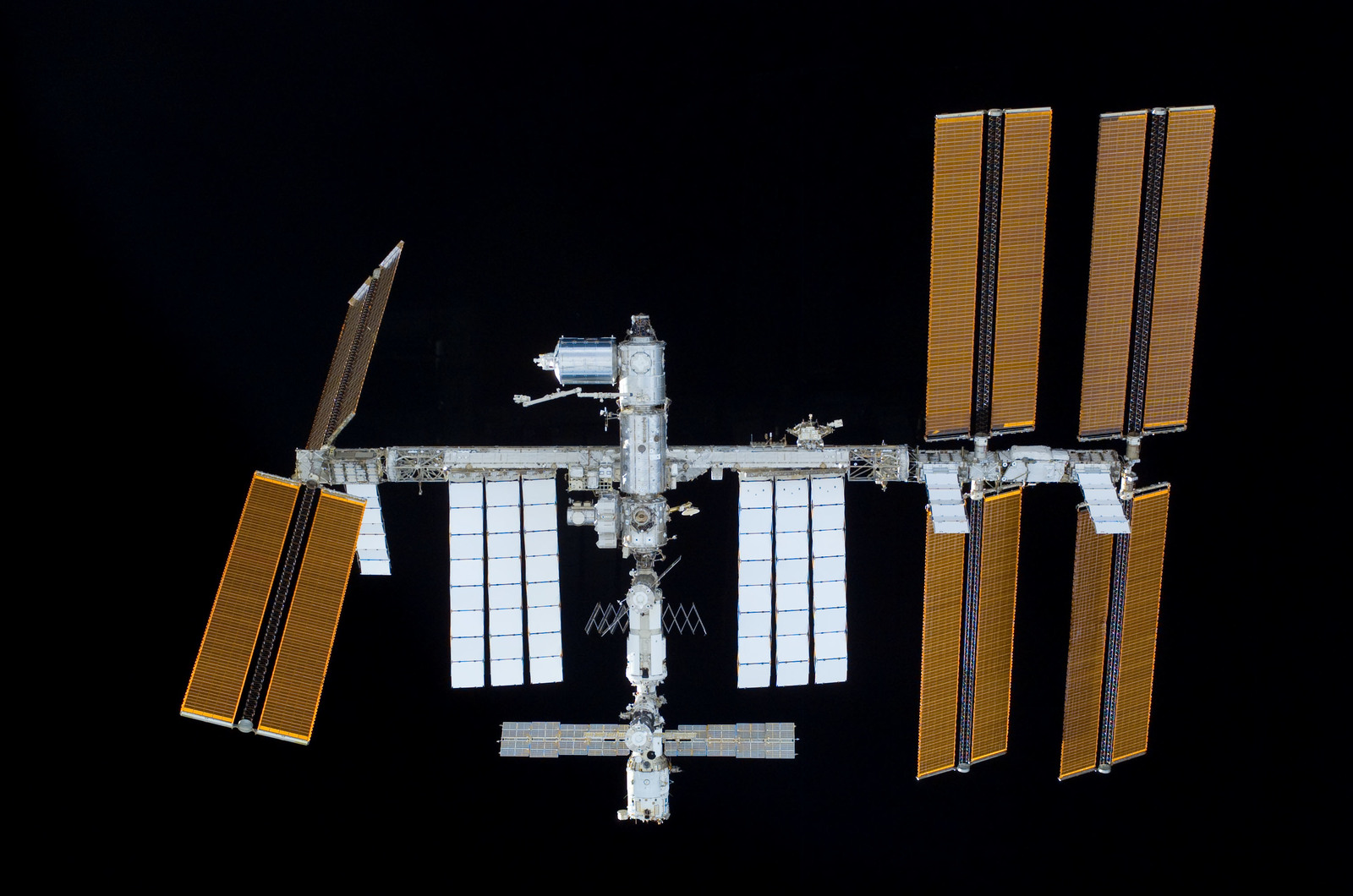 S122E011027 - STS-122 - View of ISS after STS-122 Undocking