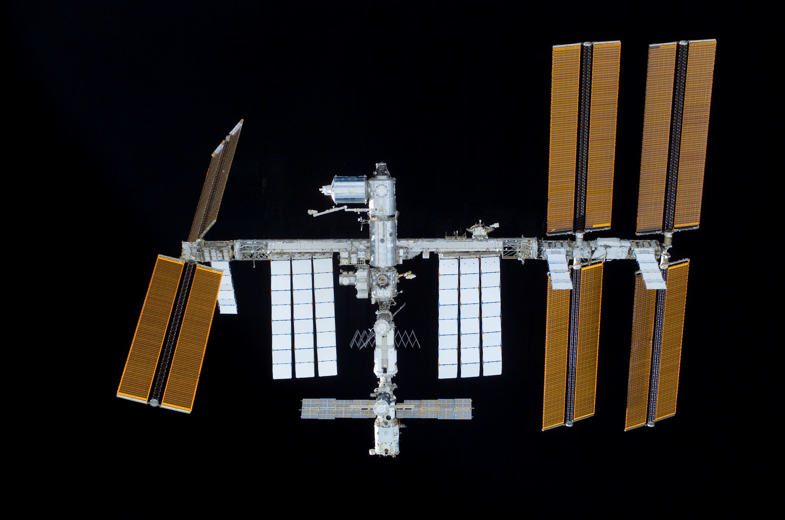 S122E011028 - STS-122 - View of ISS after STS-122 Undocking