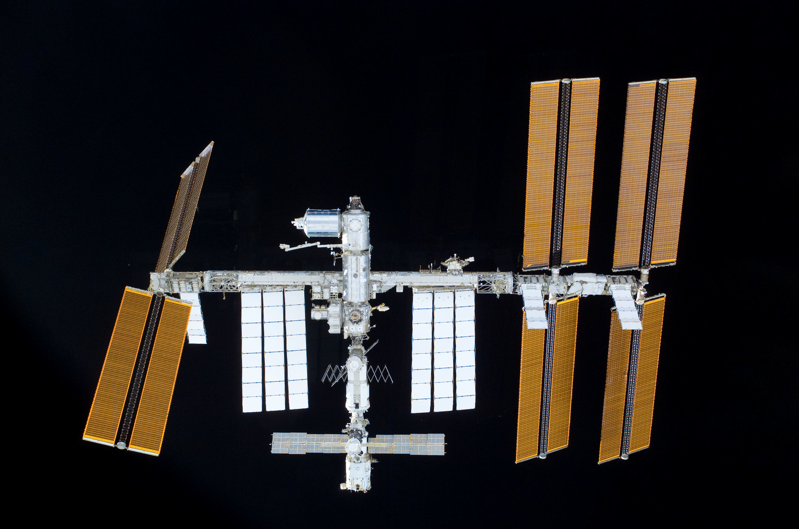 S122E011029 - STS-122 - View of ISS after STS-122 Undocking