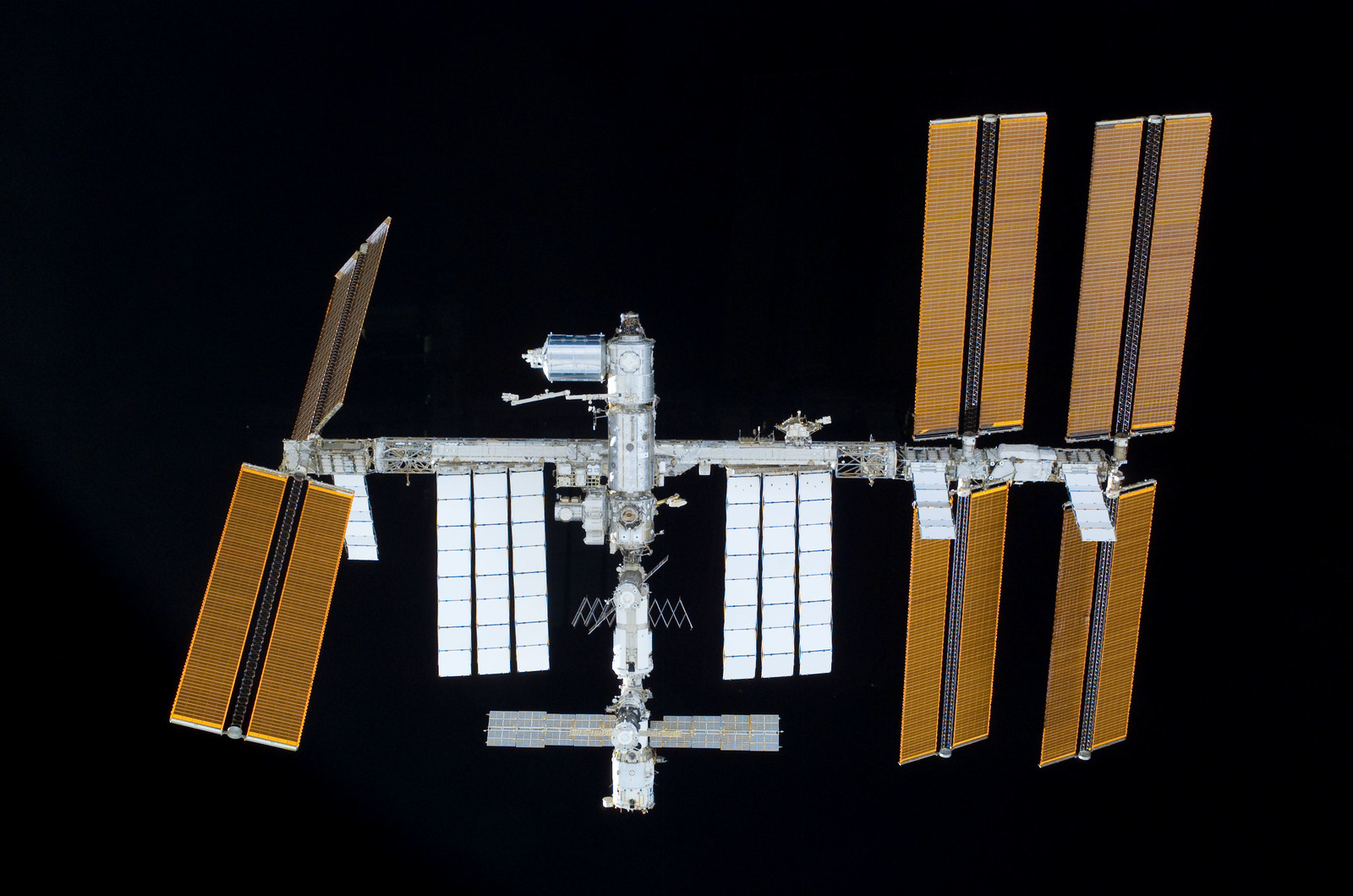 S122E011030 - STS-122 - View of ISS after STS-122 Undocking