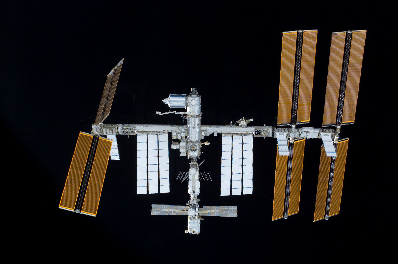 S122E011032 - STS-122 - View of ISS after STS-122 Undocking