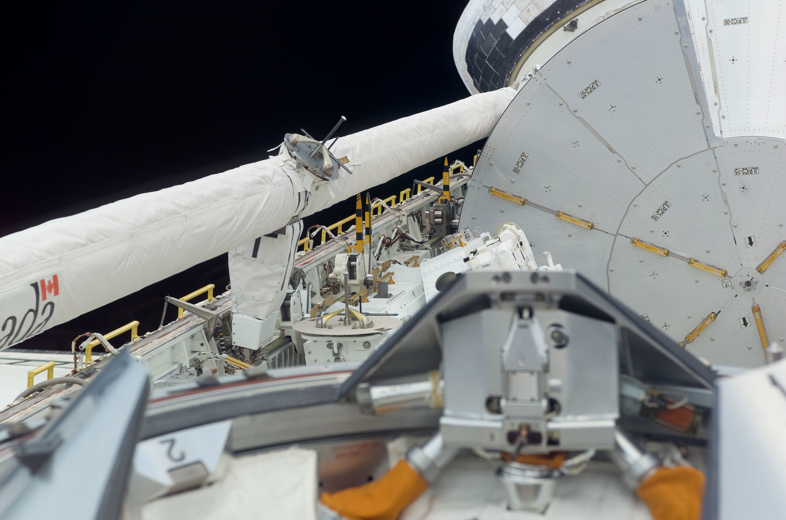 S123E005053 - STS-123 - Space Shuttle Endeavour,OV 105,Payload Bay during STS-123