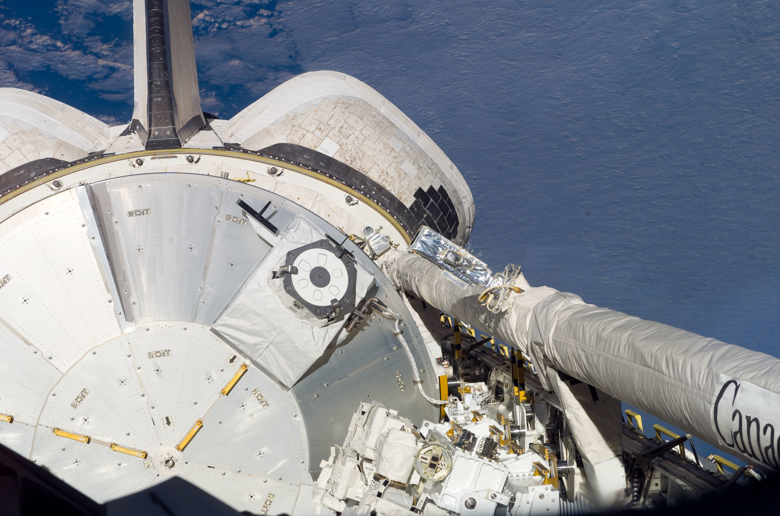 S123E005056 - STS-123 - Space Shuttle Endeavour,OV 105,Payload Bay during STS-123