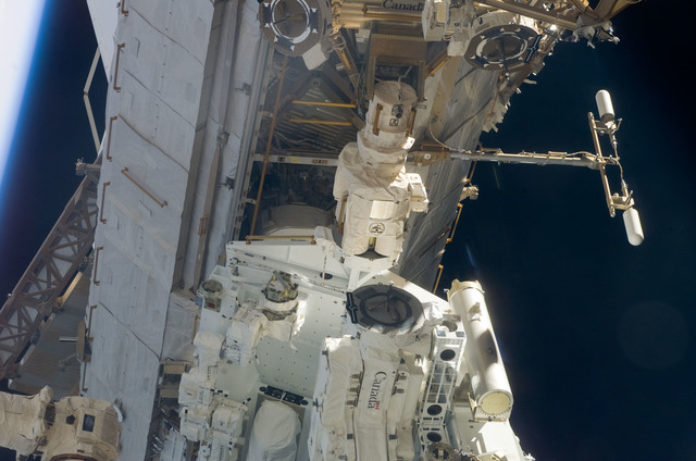 S123E005943 - STS-123 - Dextre taken during Expedition 16 / STS-123 Joint Operations