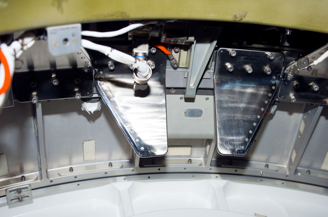 S123E006163 - STS-123 - Hatch area between Node 2 and JLP during STS-123 / Expedition 16 Joint Operations