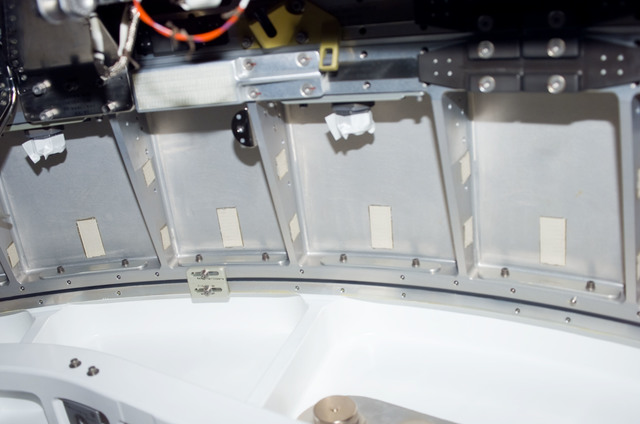 S123E006167 - STS-123 - Hatch area between Node 2 and JLP during STS-123 / Expedition 16 Joint Operations