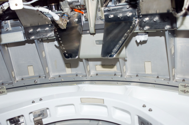 S123E006168 - STS-123 - Hatch area between Node 2 and JLP during STS-123 / Expedition 16 Joint Operations
