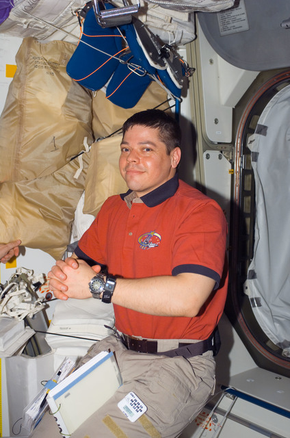 S123E006597 - STS-123 - Behnken in the Node 1 hatch area during Joint Operations