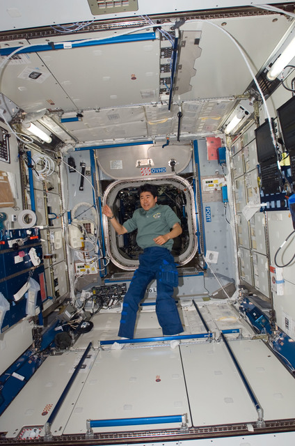 S123E007039 - STS-123 - Doi in the Node 2 during Expedition 16 / STS-123 Joint Operations