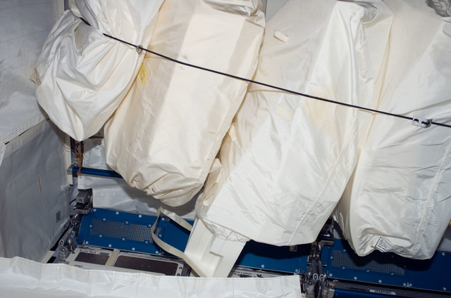S123E007147 - STS-123 - Stowed items in the JLP during Expedition 16 / STS-123 Joint Operations