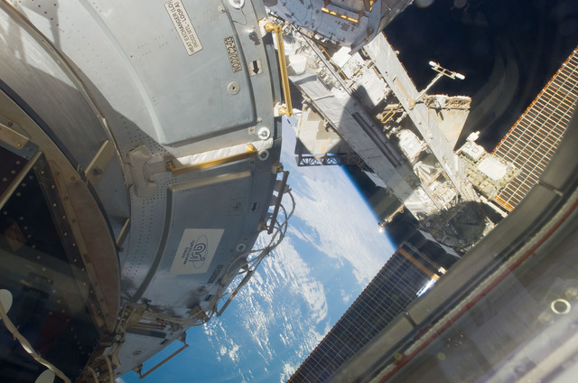 S123E008211 - STS-123 - Node 2 and P1 Truss taken by STS-123 crewmember during Joint Operations